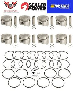 Sealed Power Ford 390 Fe V8 Pistons With Hastings Rings 1968 1976