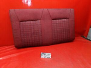 87 89 Mustang Convertible Red Cloth Tweed Rear Back Seat Cushion Upper Lx Gt Oem
