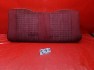 87 89 Mustang Convertible Red Cloth Tweed Rear Back Seat Cushion Lower Lx Gt Oem