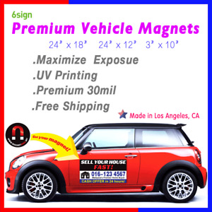 24 x18 Custom Auto Truck Sign Advertising Car Magnets Vehicle Signage 1 Pair 2