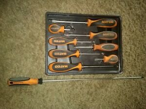 Matco Tools 8 Piece Orange Mixed Screwdriver Set Sso8c With 18in Number Two