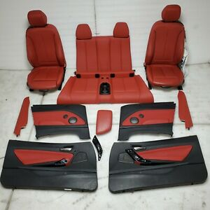 2015 Bmw M235i Front Rear Coral Red Package Leather Seats Door Panels Kit Oem