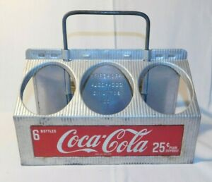 AWESOME old Coca Cola Coke Metal Advertising Soda Bottle Carrier