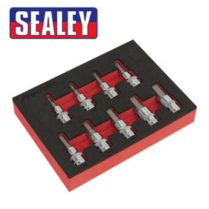 Sealey Premier 9pc 3 8 Drive Hex Key Socket Bit Set 4 12mm Allen Allan Eva Tray