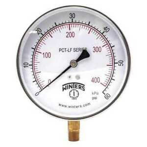 Winters Pct322lf Gauge pressure 0 To 60 Psi 4 1 2 In