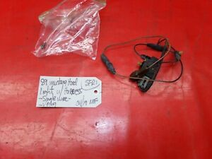 87 98 Mustang Under Hood Engine Courtesy Light Lamp Switch W Wiring Harness Oem