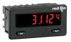 Red Lion Cub5vb00 Dc Voltmeter W Red green Backlight