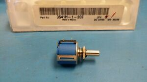 1 Pc 3541h 1 202 Bourns Precision Potentiometers 7 8 hybr 2kohms 0 25 10turns