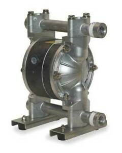 Dayton 6py51 Double Diaphragm Pump 316 Stainless Steel Air Operated Ptfe 12