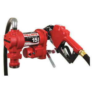 Fill rite Fr1210ga 15gpm 12 Vdc Fuel Transfer Pump With Hose And Automatic