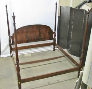 Stunning Councill Solid Mahogany Carved Four Poster King Bed Exceptional