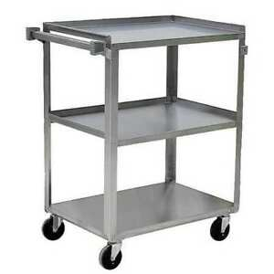 Zoro Select 5jnj6 Stainless Steel Utility Cart 500 Lb Capacity 31 l X 19 w