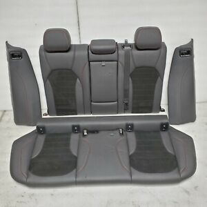 2018 Alfa Romeo Stelvio Alcantara Suede Red stitched Package Rear Seats Set Oem