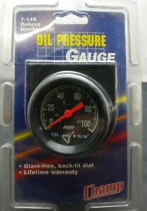 Vintage Nos Mechanical Oil Pressure Gauge Chevy Gm Ford Hotrod Streey Rod Usa
