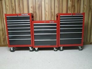Older Craftsman Tool Box Rollaway Chest Cabinets Set Of 3 Usa Made Waterloo
