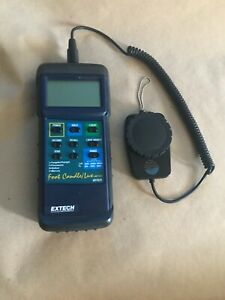 Extech 407026 Heavy Duty Foot Candle Lux Light Meter pre owned