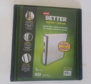 Lot Of 8 Staples Better 3 Ring Binders 1 1 2 Inch Flexible Spine Nib Free Ship