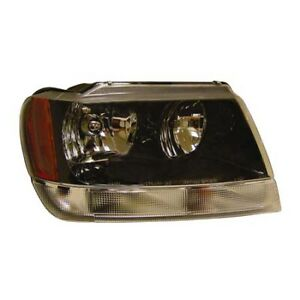 Fits 2004 Jeep Grand Cherokee Head Light Assembly Passenger Side Ch2503138