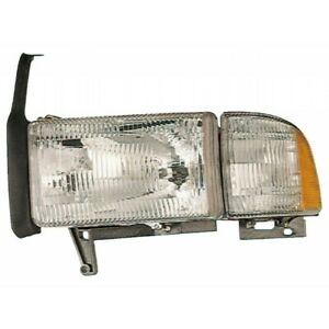 Fits 2000 2001 2002 Dodge Ram 1500 Head Light Assembly Driver Side W o Sport