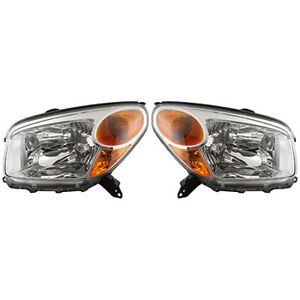 Fits 2004 2005 Toyota Rav4 Head Light Assembly Pair Driver And Passenger Side