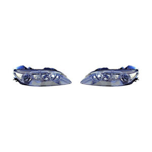 Fits 2003 2005 Mazda 6 Head Light Assembly Pair Driver And Passenger Side