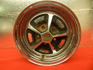1 Used Magnum 500 Chromed Steel Wheel 14 X 6 X 4 3 4 Bolt Circle 2 Bore