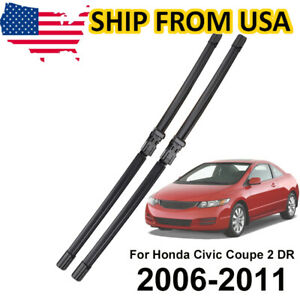 2pcs Set Front Windshield Wiper Blades For Honda Civic Mk8 Coupe 2005 11 28 24