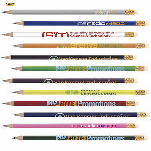 Personalized Bic 2 Pencil Solid Printed With Your Logo Text Name 500 Qty
