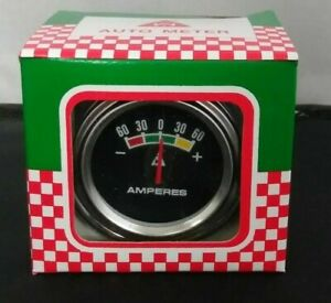 Vintage Nos New Chrome 2 Amperes Amp Gauge Chevy Gm Ford Streetrod Ford