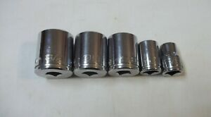 Kobalt 3 8 Drive 12pt Socket Set Lot 1st Gen J H Williams Snap On Usa Sae