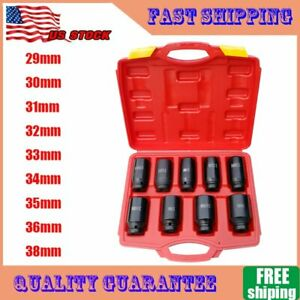 9x Deep Impact Socket Set 1 2 Drive Metric Axle Hub Nut Socket 29 38mm 2019