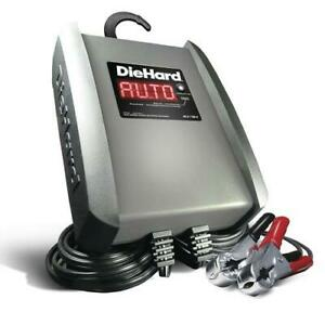 6 Amp Battery Charger Fully Automatic Digital Scroll Display Heavy Duty Clamps