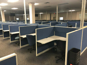 Haworth Modular Office Call Center Telemarketing Cubicle Station