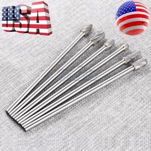 6pcs 1 4 Tungsten Carbide Burr Rotary Drill Bits Tools Cutter Files Set Shank