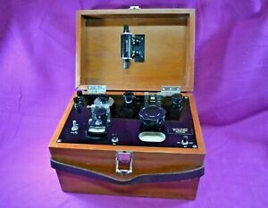 Vintage Leeds Northrup Thermocouple Potentiometer Test Set In Wood Box