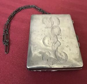Sterling Silver Coin Purse Notebook Makeup Compact Webster Co Reed Barton