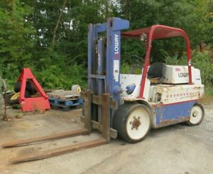 Forklift Smallest Nissan Made 2 000 Lb Gas Sideshift 1 482 Original Hrs