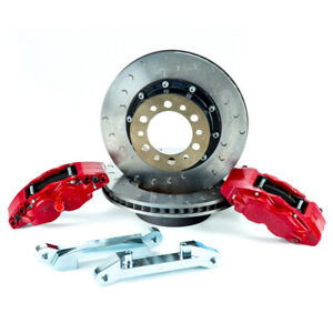 Alcon For 07 Jeep Jk W 6x5 5in Hub 357x32mm Rotor 4 Piston Red Calipers Front