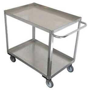 Zoro Select 11a466 Stainless Steel Unassembled Utility Cart 1200 Lb Capacity