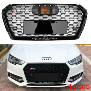 For 2017 2018 Audi A4 s4 B9 Rs4 Style Honeycomb Mesh Hex Grille Black W quattro