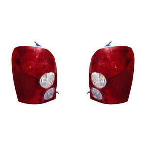 Fits 2002 2003 Mazda Protege Hatchback Taillight Pair Ma2800121 ma2801121