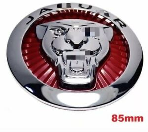 85mm Red Silver Front Grill Emblem Badge For Jaguar Growler Xe Xf F Type F Pace