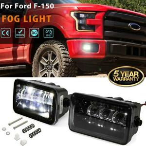 2x Projector Led Fog Light Rectangle Driving Lamp For Ford F 150 2015 2016 2017
