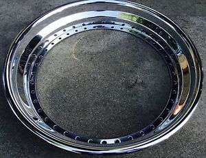 22 x 2 5 outer Step Lip Rolled Chrome Fits All 3pc Wheel Hre asanti Gfg 40 Holes