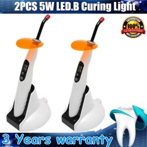 2x Dental Wireless Led b Curing Light 1400mw Woodpecker Imported High Power Led