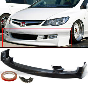 Fit 09 11 Honda Civic 4dr Sedan Pu Mugen Front Bumper Lip Spoiler Bodykit