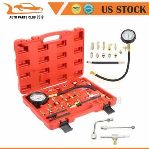 Car Fuel Injection Pump Pressure Tester Manometer Gauge System Test Kit New