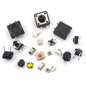 3x6mm 12x12mm Etc Various Sizes Tactile Push Button Switch Dip Smd With Bracket