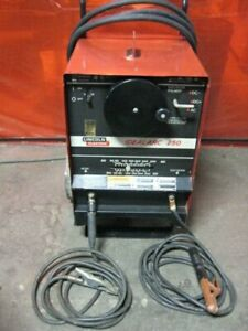 Lincoln Idealarc 250 Ac dc 250amp Stick Welder W Leads Power Cable
