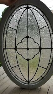 Victorian Era Oval Stained Glass Window 24 By 36